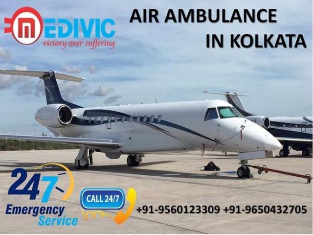 Book Supreme and Cheapest ICU Air Ambulance Service in Kolkata by Medivic