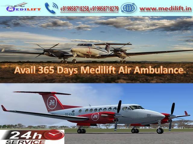 Obtain Medilift Full ICU Care Air Ambulance Service in Delhi